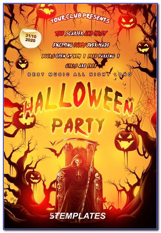 Halloween Party Flyer Template For Club