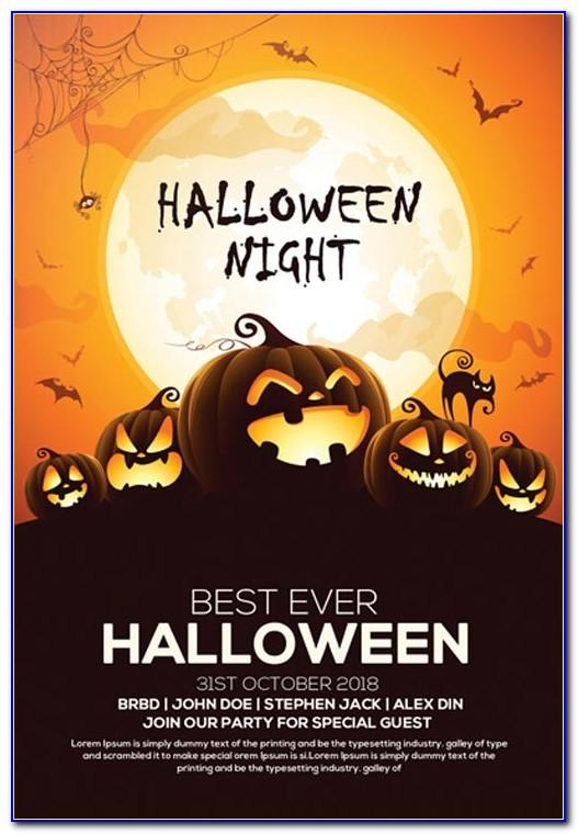 Halloween Party Flyer Template Free Download