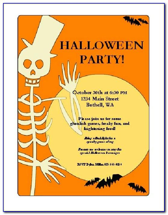 Halloween Party Flyer Template Psd Free