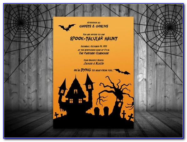 Halloween Party Invite Template Free Download