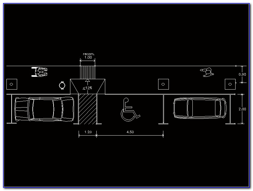 Handicap Parking Template Autocad