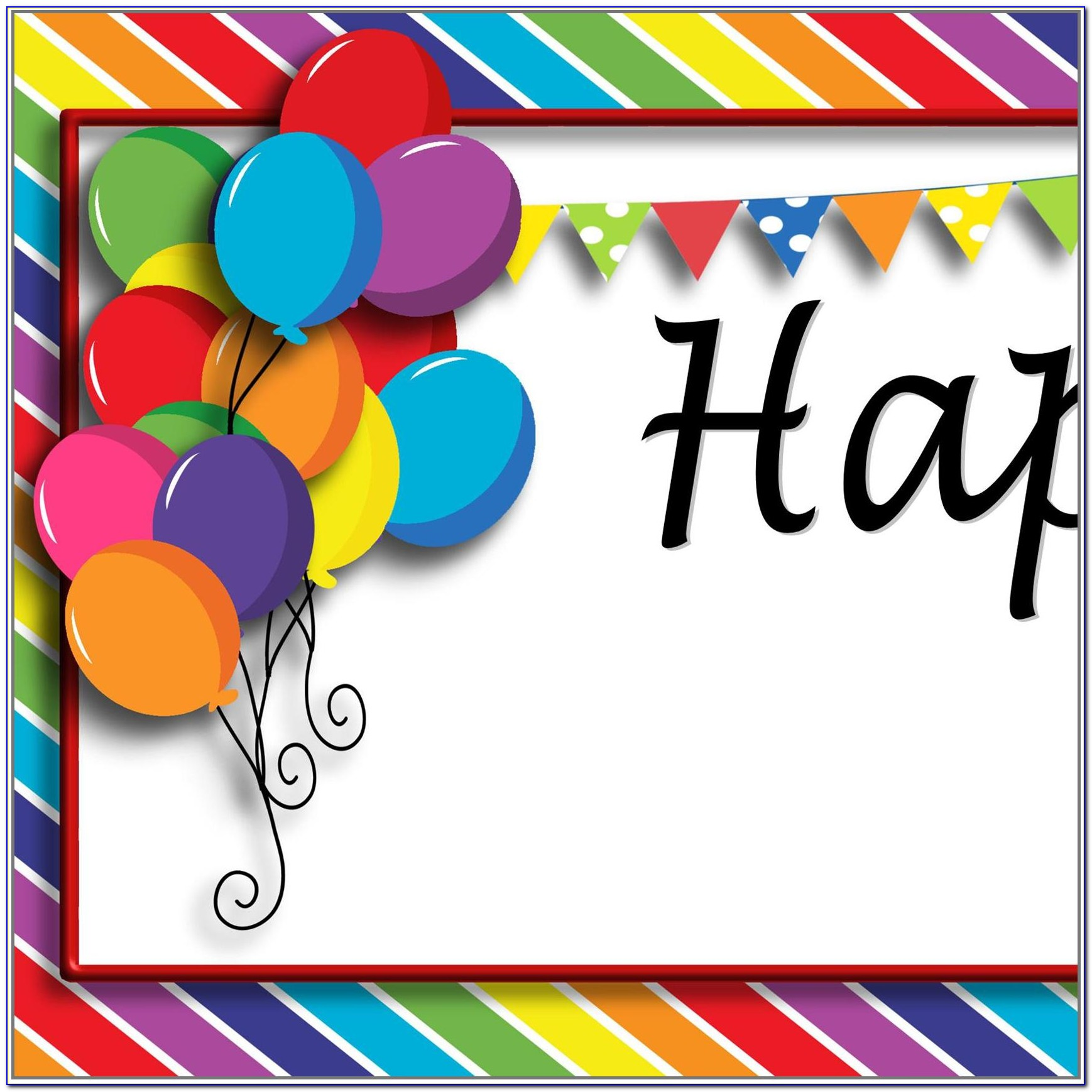 Happy Birthday Banner Design Templates