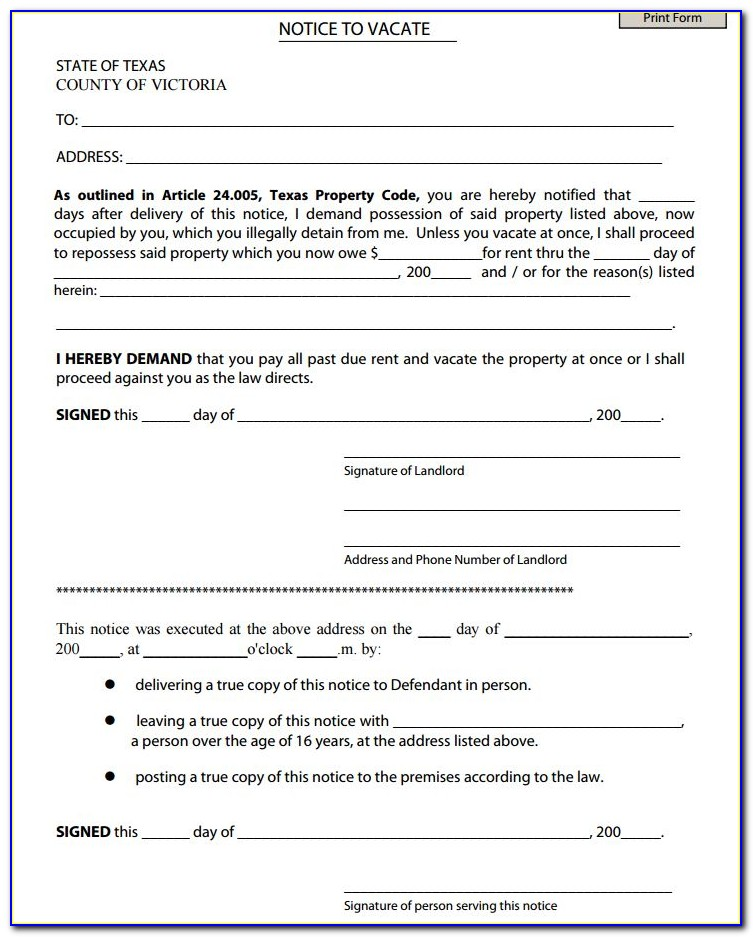 Harris County Texas Eviction Forms
