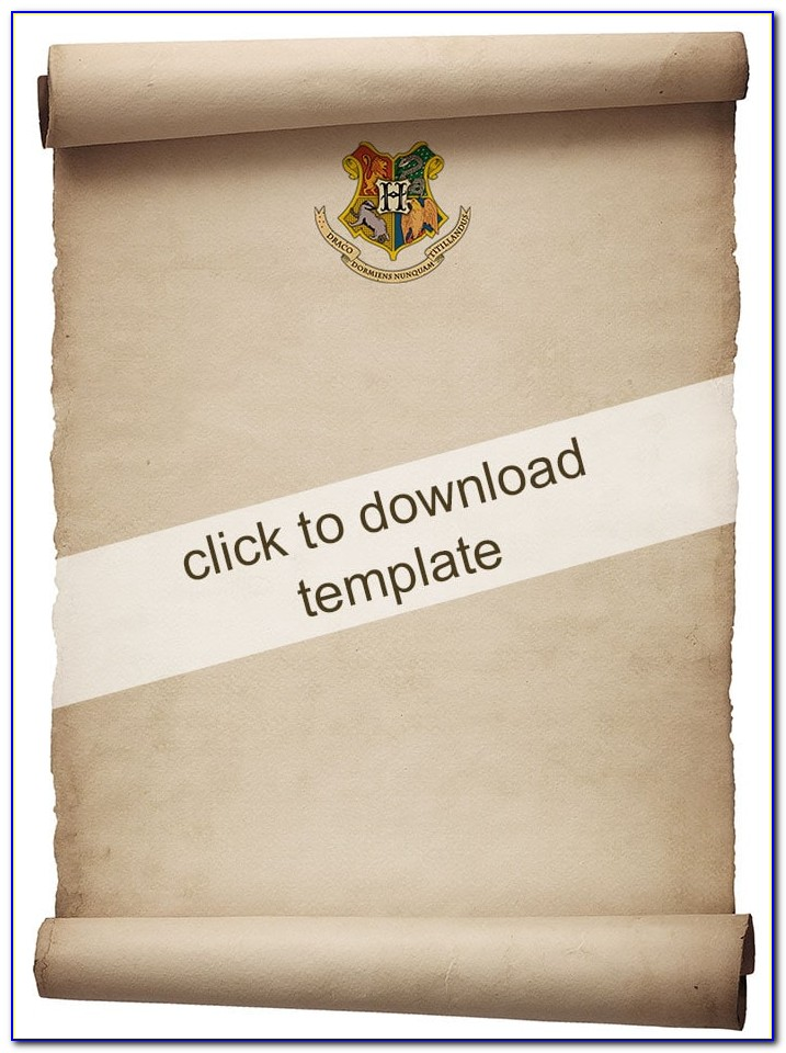 Harry Potter Invitation Template Free Download