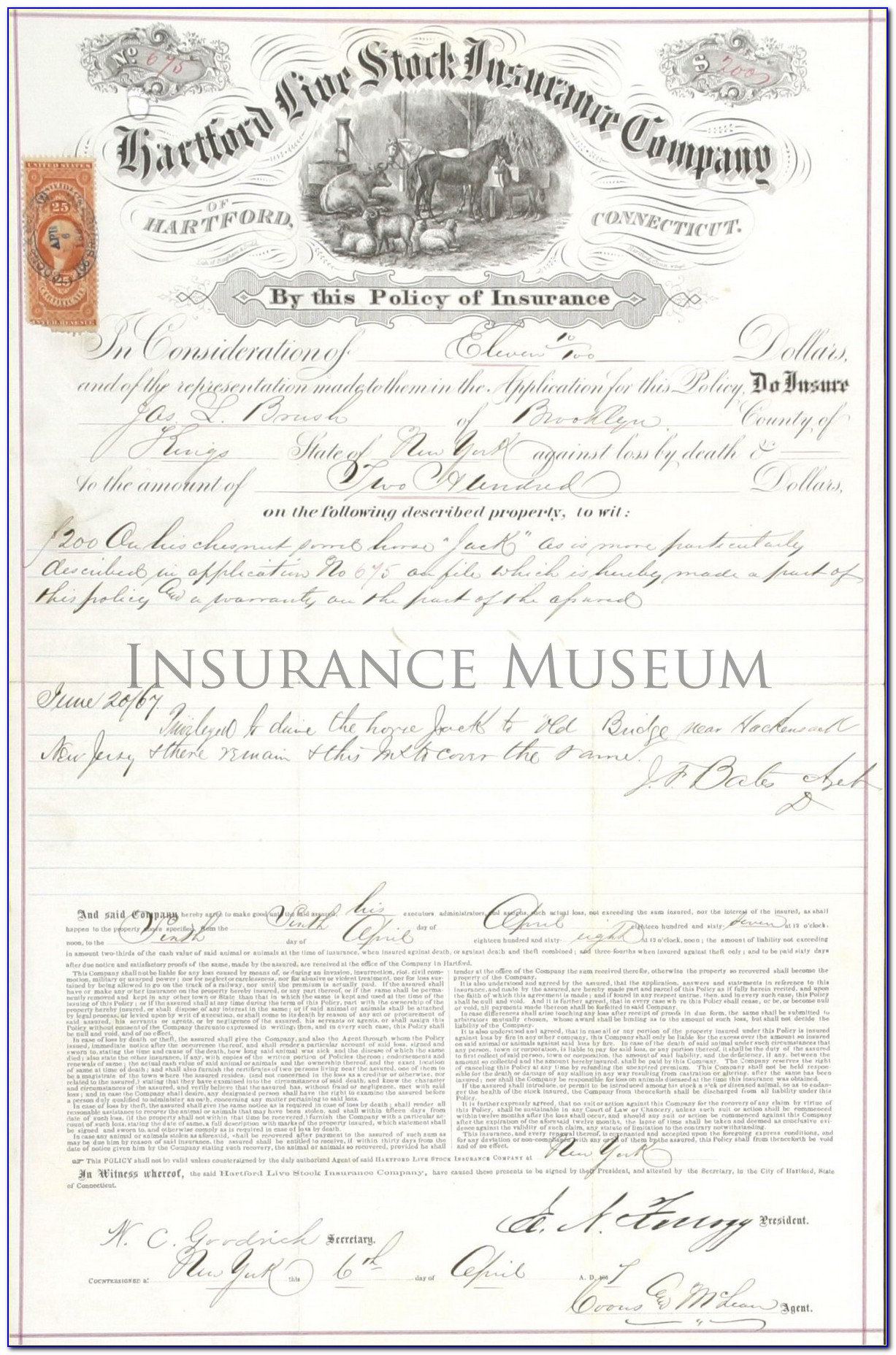 Hartford Life And Annuity Insurance Company Change Of