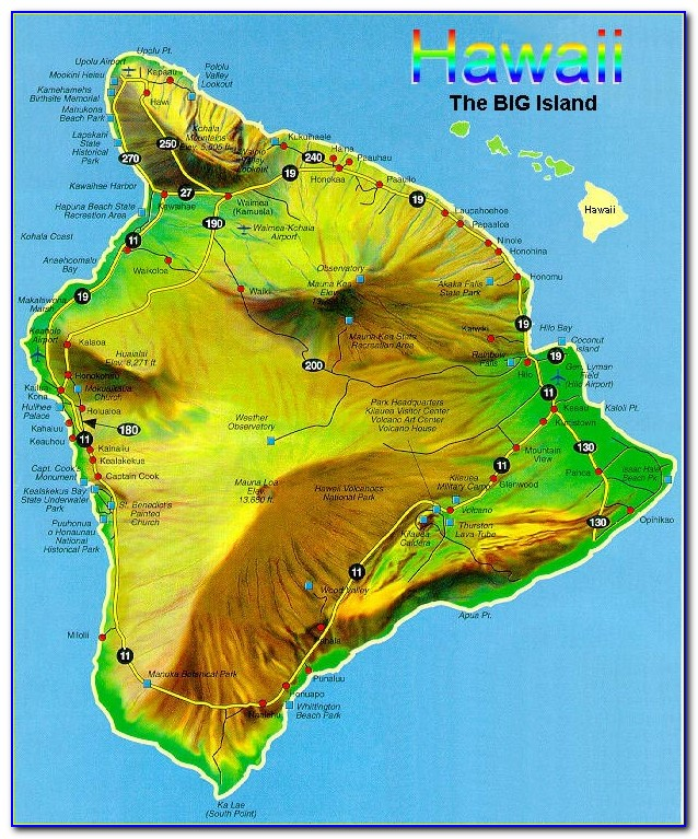 Hawaii County Topo Maps