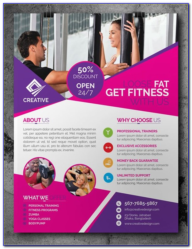 Health And Fitness Brochure Templates