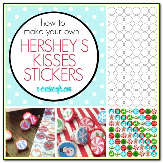 Hershey Kiss Labels Template