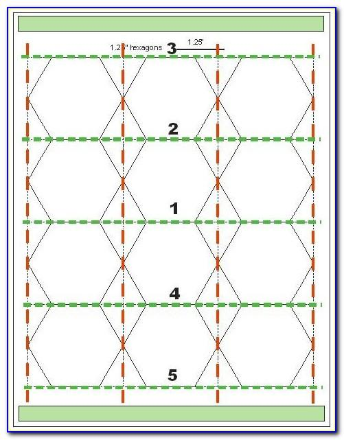 Hexagon Printable Template Quilting