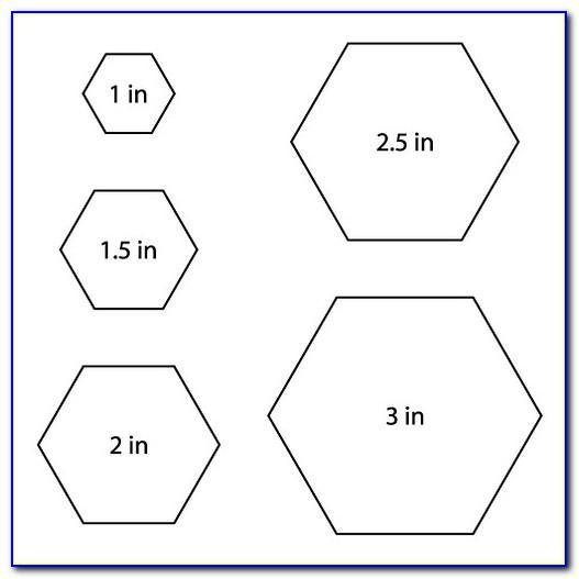 Hexagon Templates Quilting