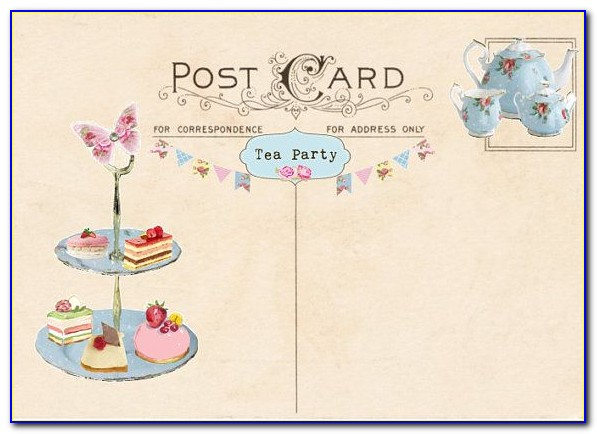 High Tea Party Invitations Template