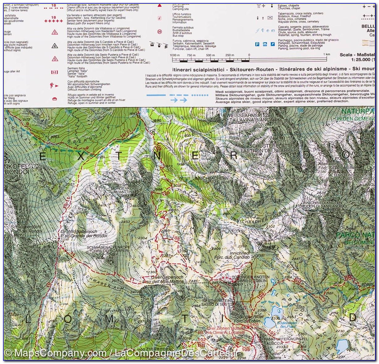 Hiking Trail Maps Italy