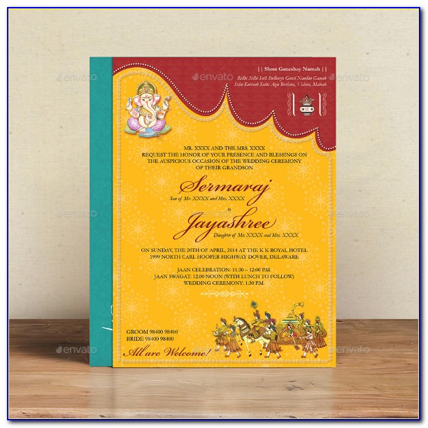 Hindu Marriage Invitation Templates Online