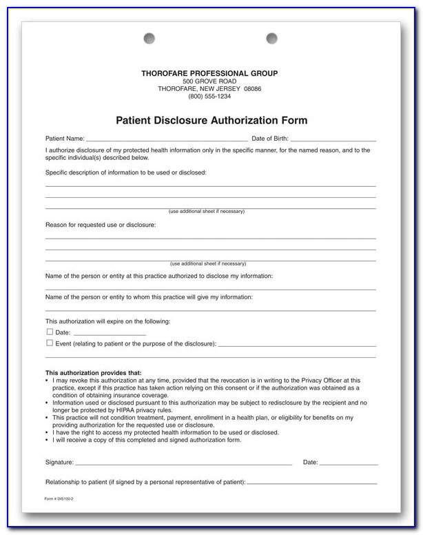 Hipaa Compliance Form For Volunteers