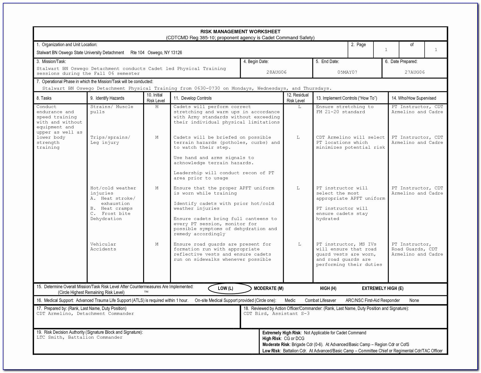 Hipaa Cow Risk Assessment Template