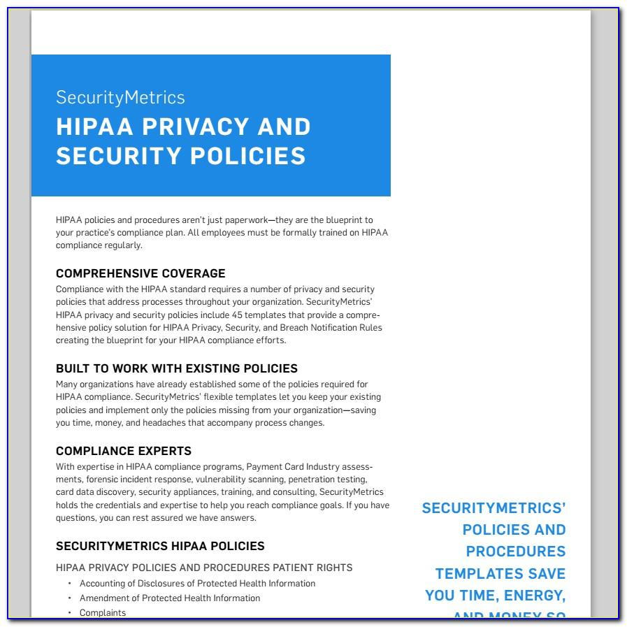 Hipaa Policy Examples