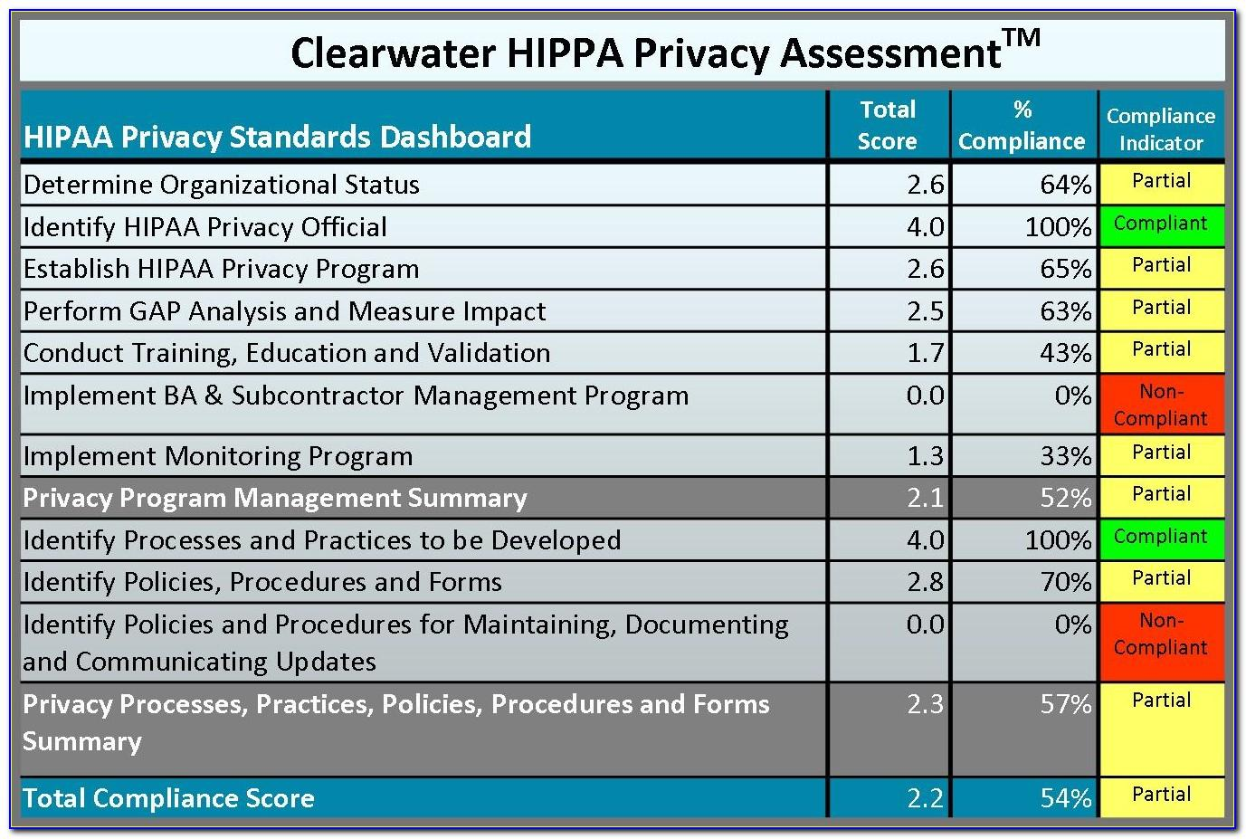 Hipaa Security Rule Risk Assessment Template