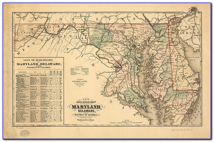 Historic Maps Of Frederick County Maryland