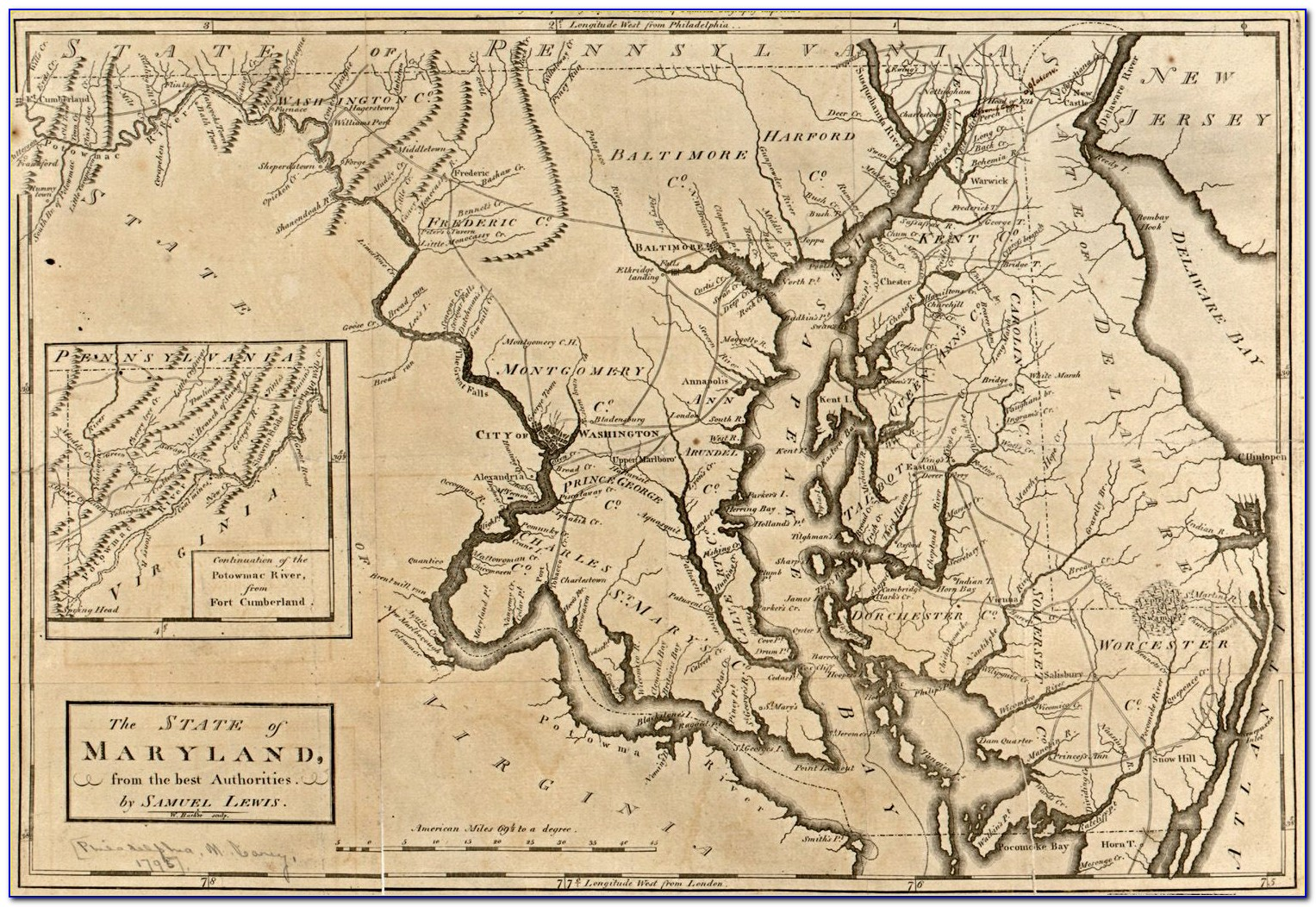 Historic Maps Of Maryland