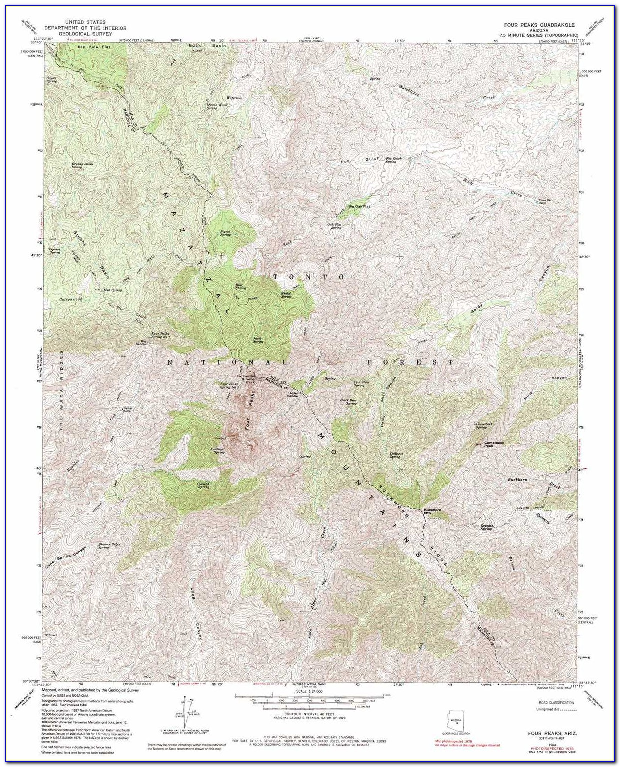 Historic Topographic Maps Arizona