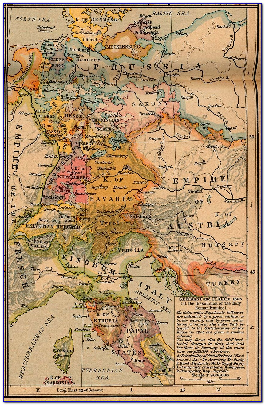 Historical Map Ancient Italy