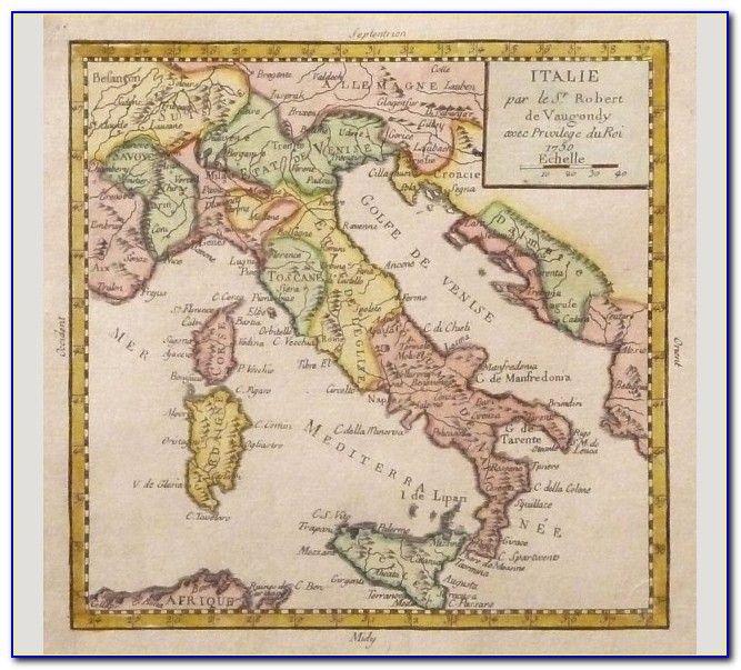 Historical Map Of Rome Italy