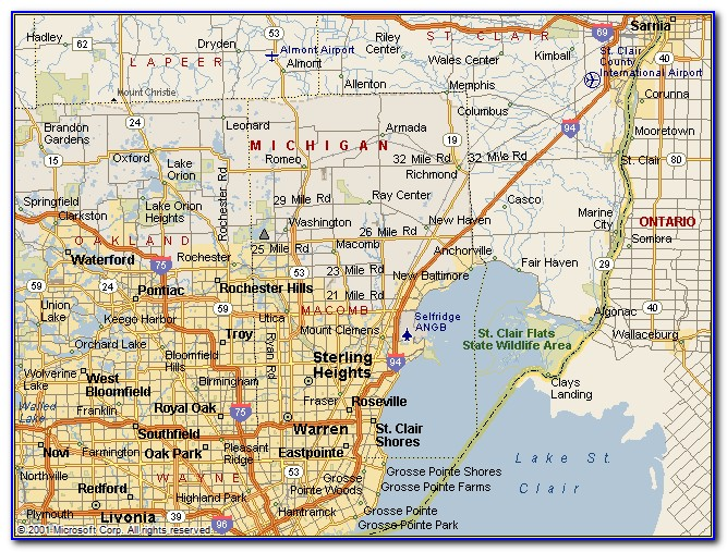 Historical Maps Of Macomb County Michigan
