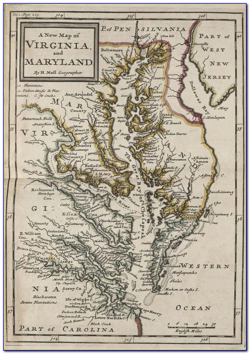 Historical Maps Of Maryland Counties