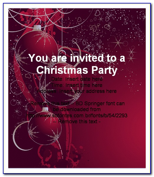 Holiday Invitation Templates For Word