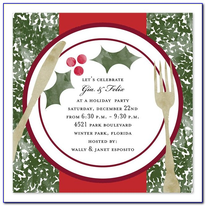 Holiday Invitation Templates Powerpoint