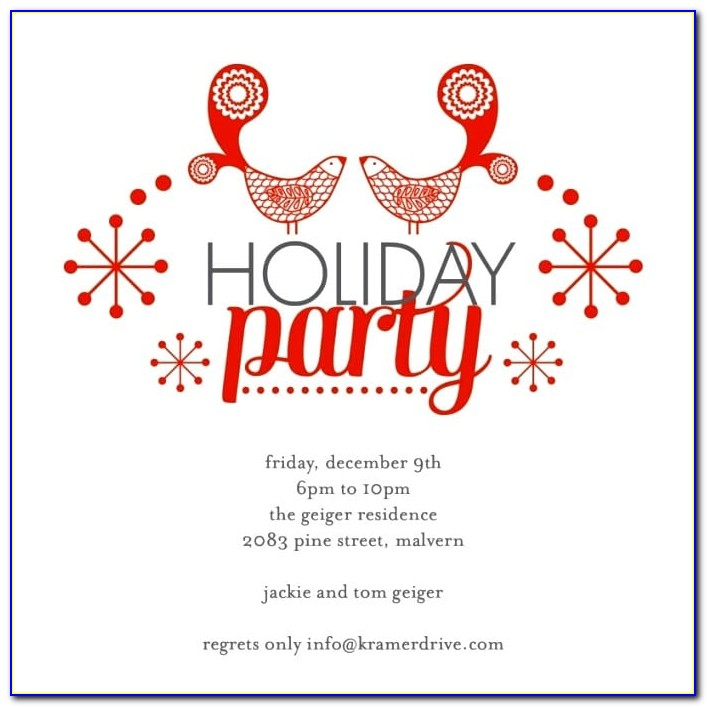 Printable Holiday Party Invitation Template Free