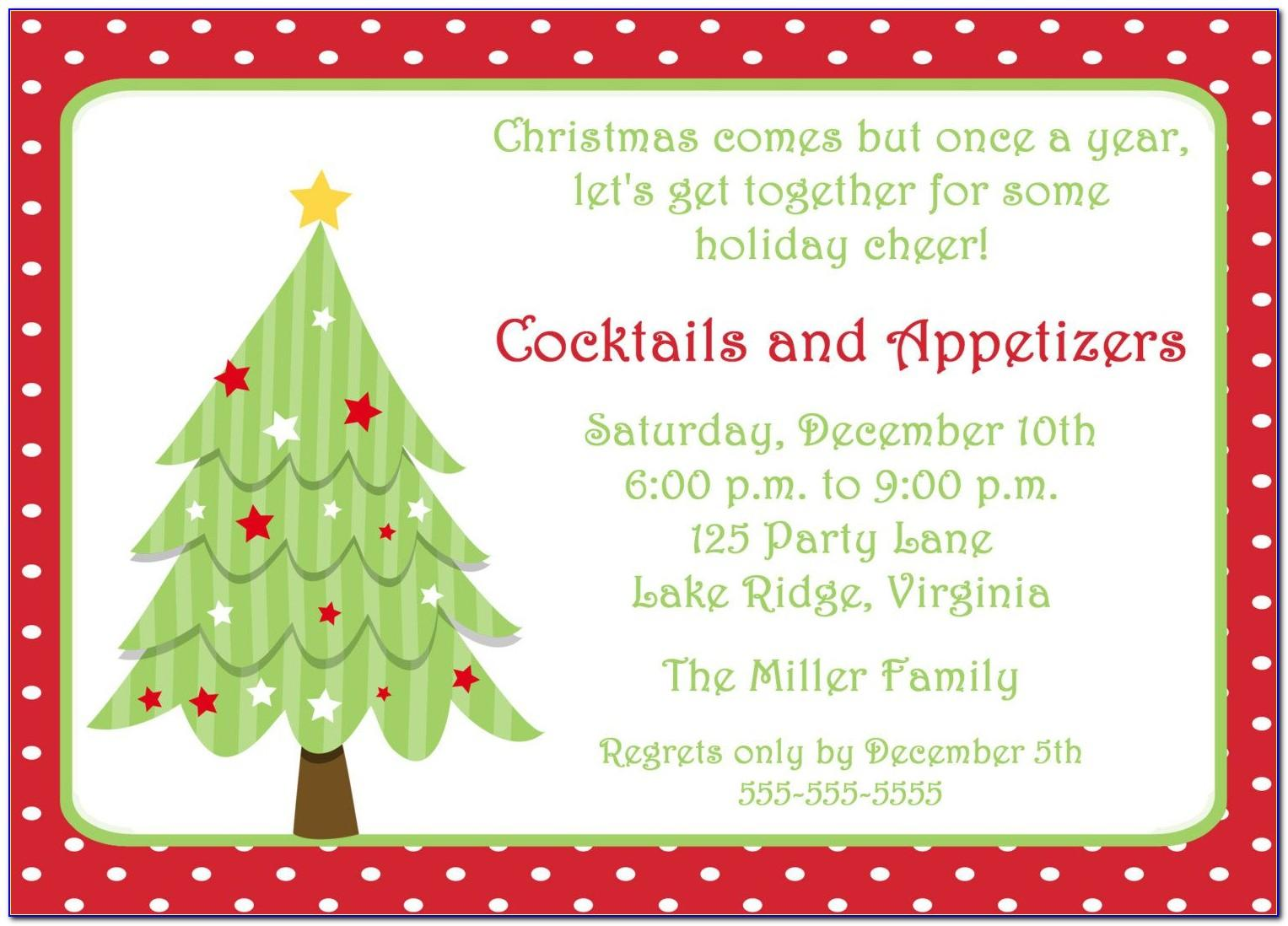 Holiday Party Invitation Templates Free Word