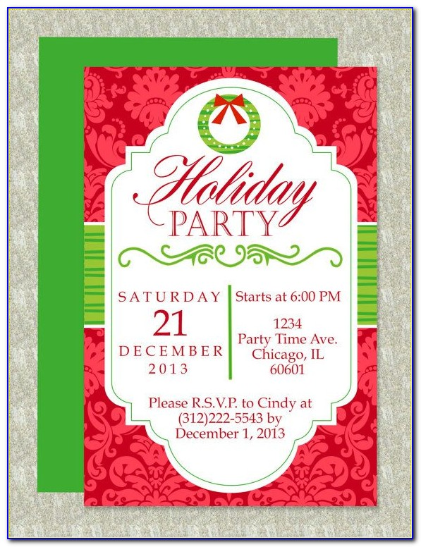 Holiday Party Invitation Templates Publisher