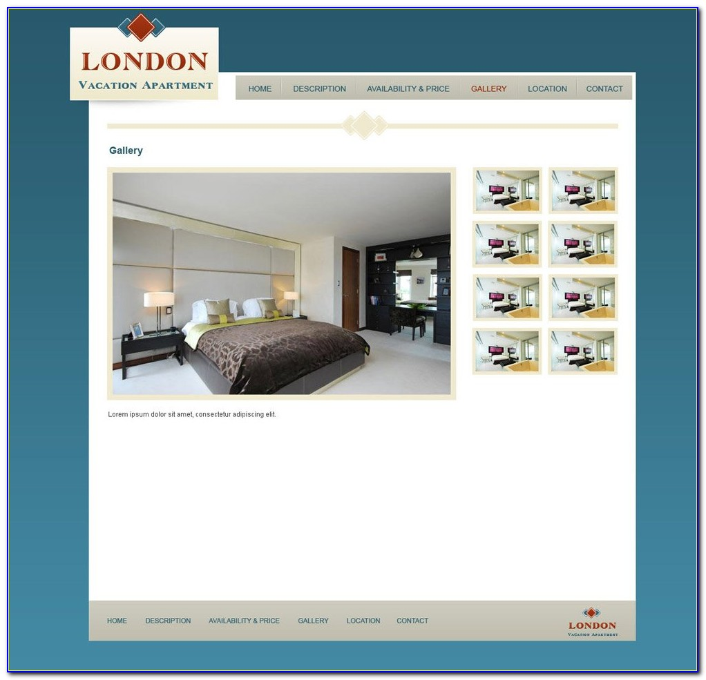 Holiday Rental Website Templates