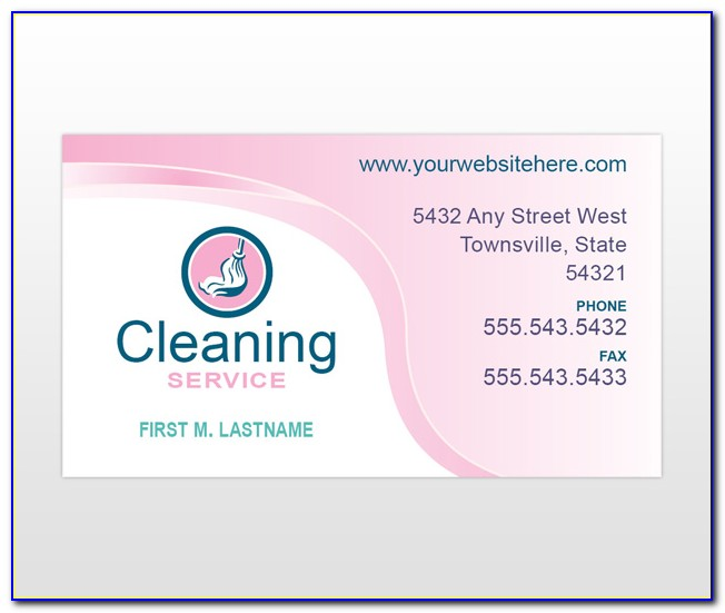 Home Cleaning Business Cards Templates