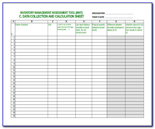 Home Inventory Spreadsheet Template Free
