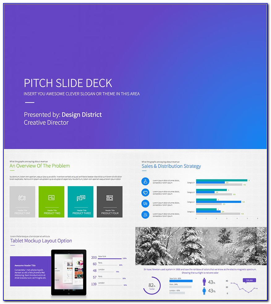 Horizon Business Pitch Deck Powerpoint Template Free