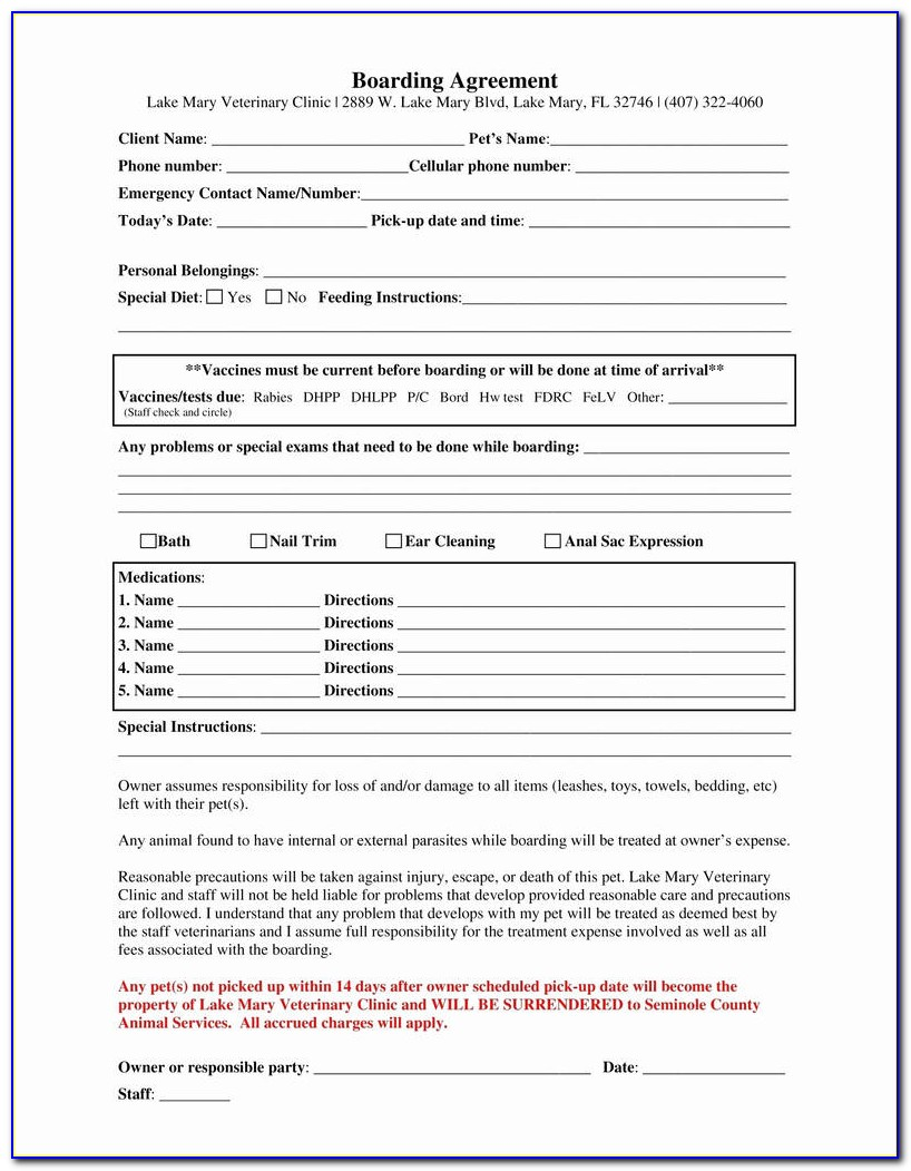 Horse Boarding Agreement Form Free New Horse Boarding Contract Template Best Horse Boarding Contract