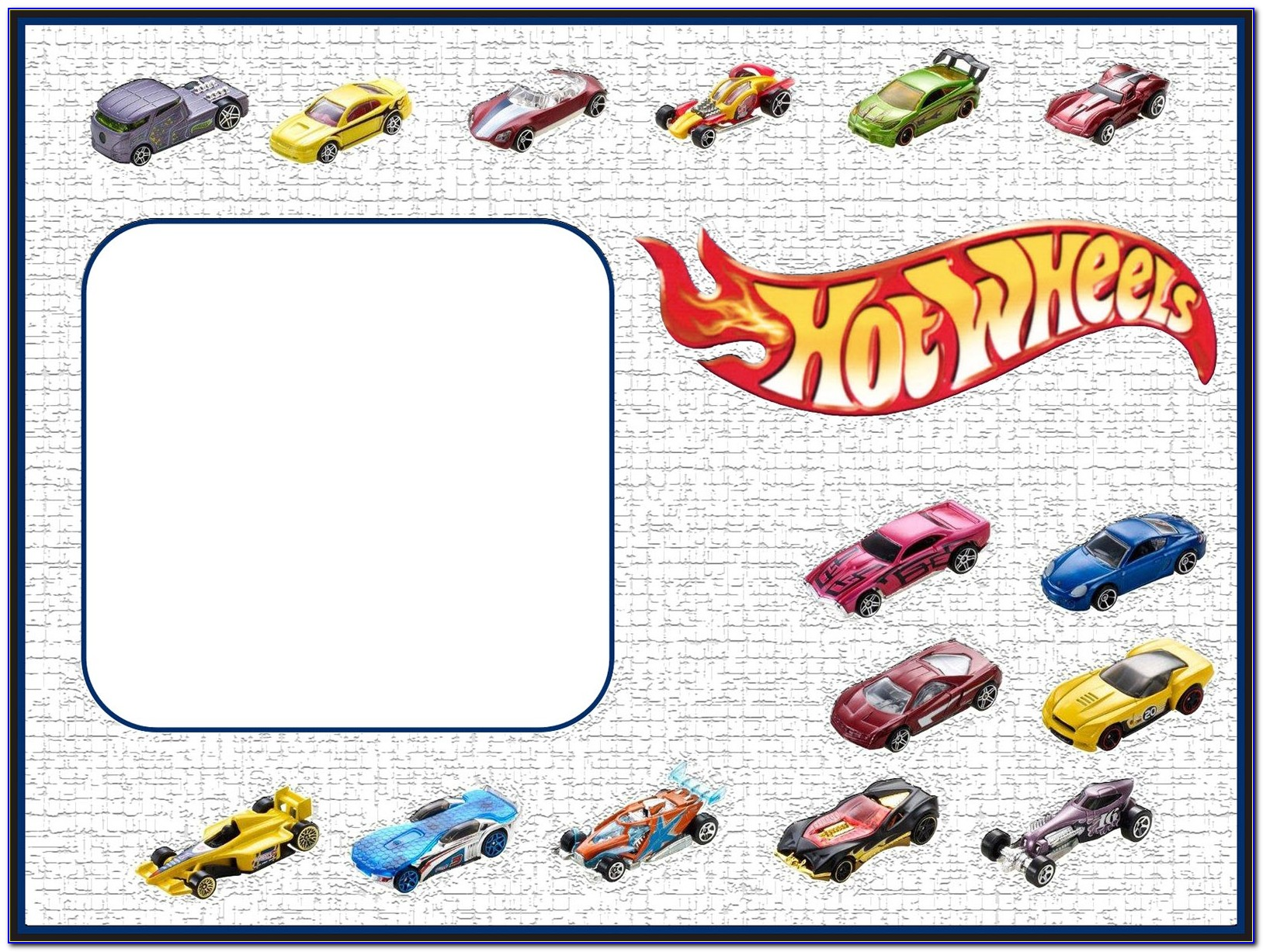 Hot Wheels Party Invitation Template