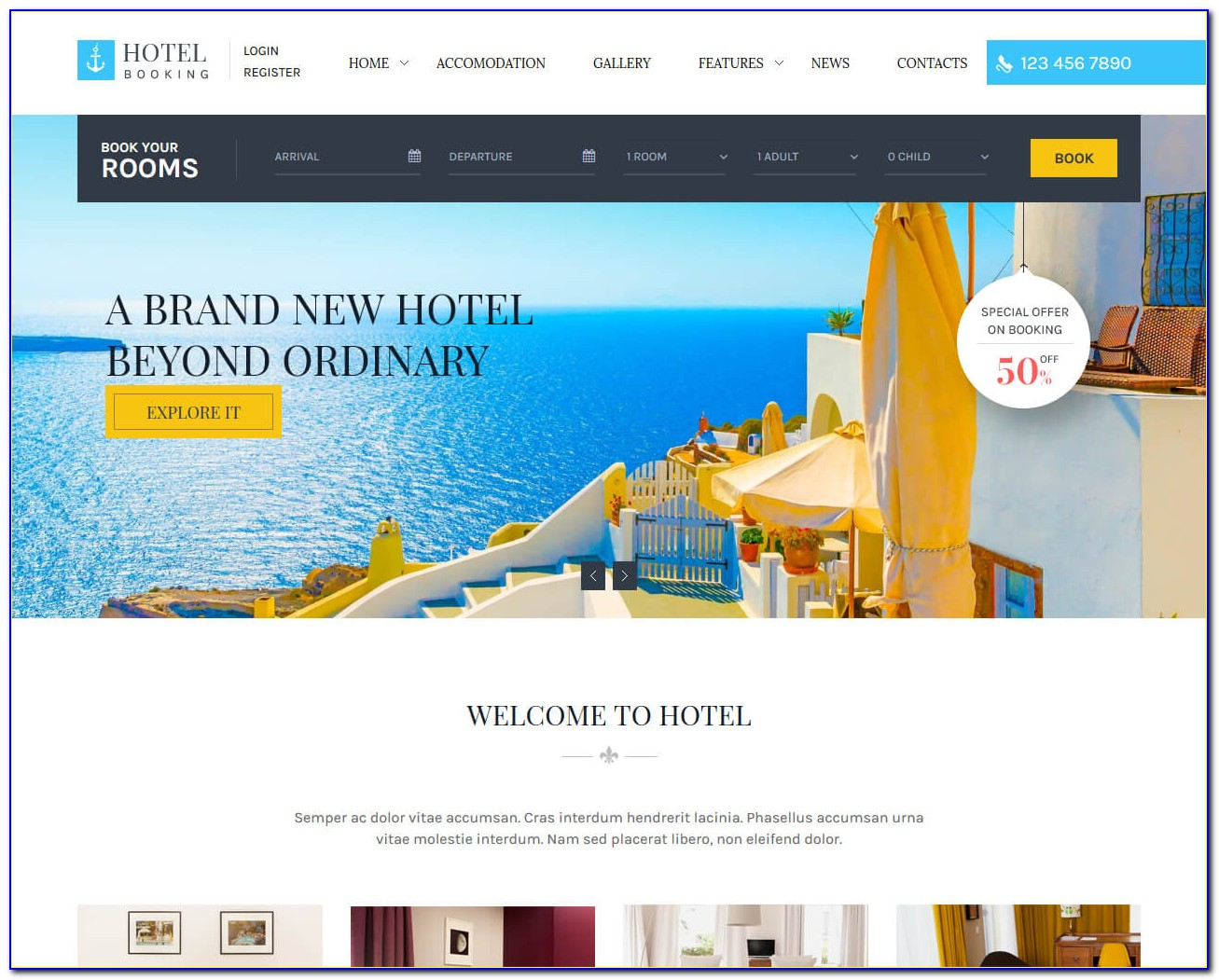 Hotel Reservation System Website Template