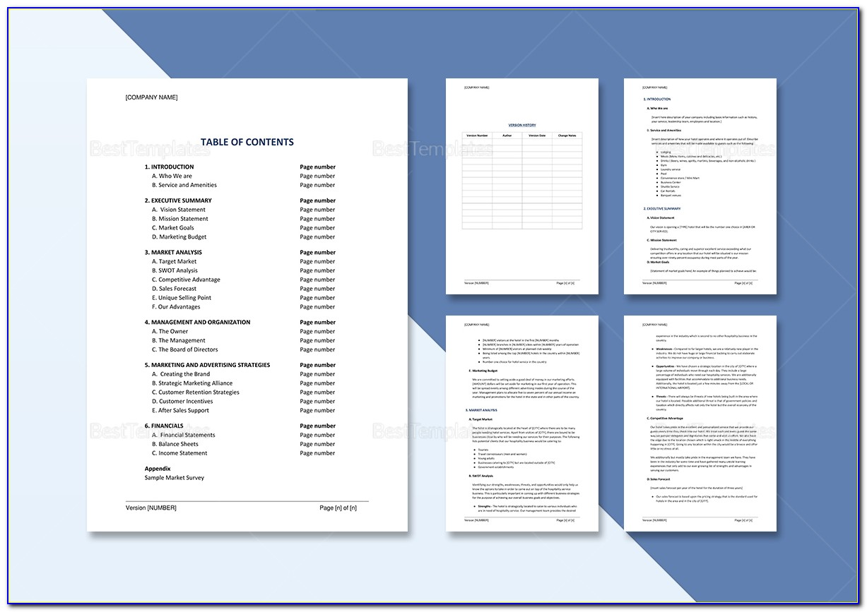 Hotel Sales And Marketing Action Plan Template