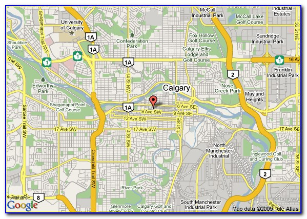 Hotels Downtown Calgary Map