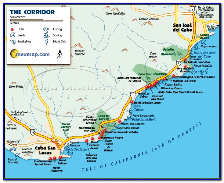 Hotels In Cabo San Lucas Map
