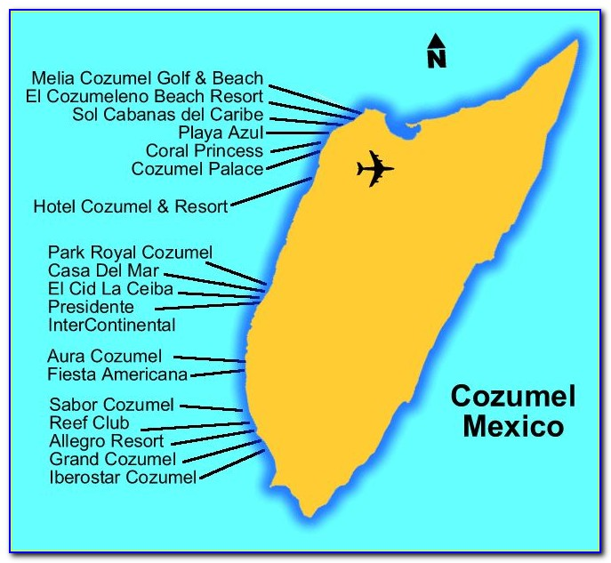 Hotels In Cozumel Map