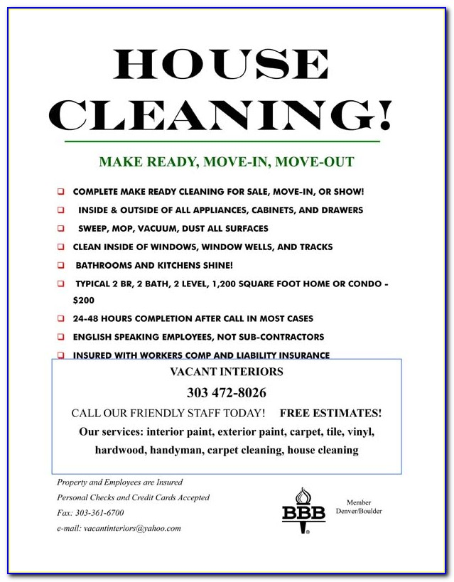 House Cleaning Service Ad Templates