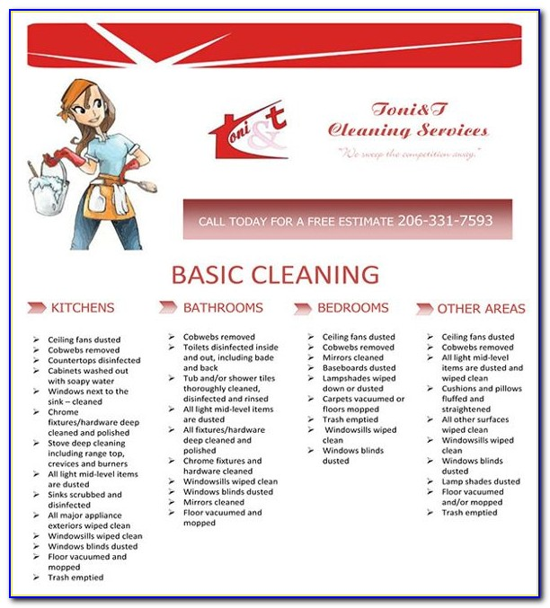 House Cleaning Template Checklist