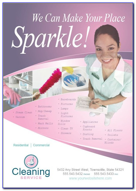 House Cleaning Templates Free