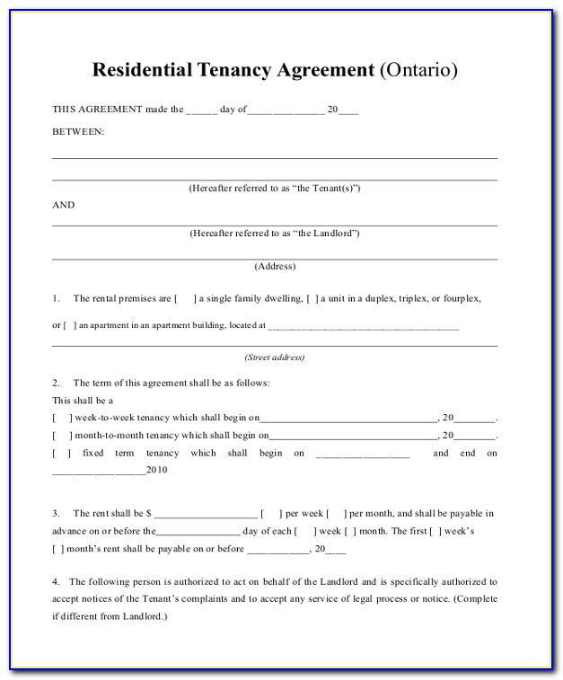 House Rent Agreement Template Doc