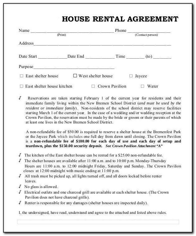 House Rent Agreement Template