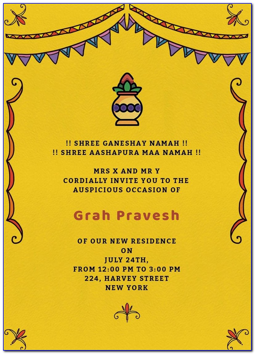 House Warming Ceremony Invitation Cards In Tamil